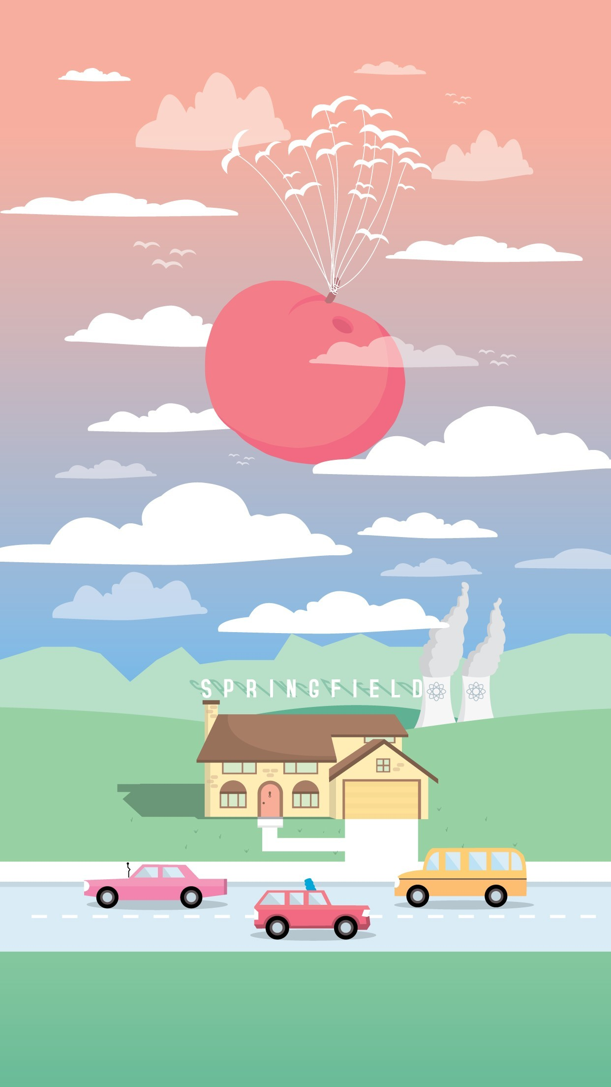 The Simpsons and the Giant Peach by Milli-Jane