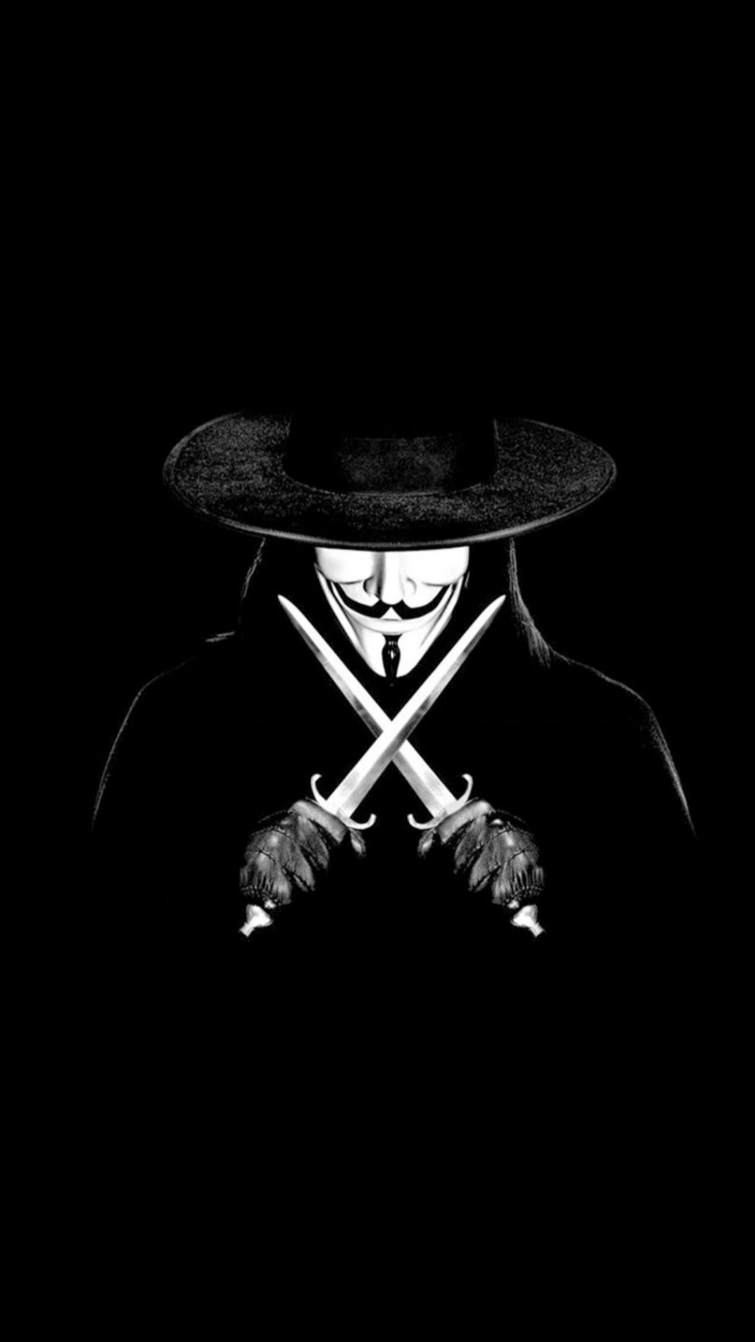 V For Vendetta Man With Knifes #iPhone #6 #plus #wallpaper