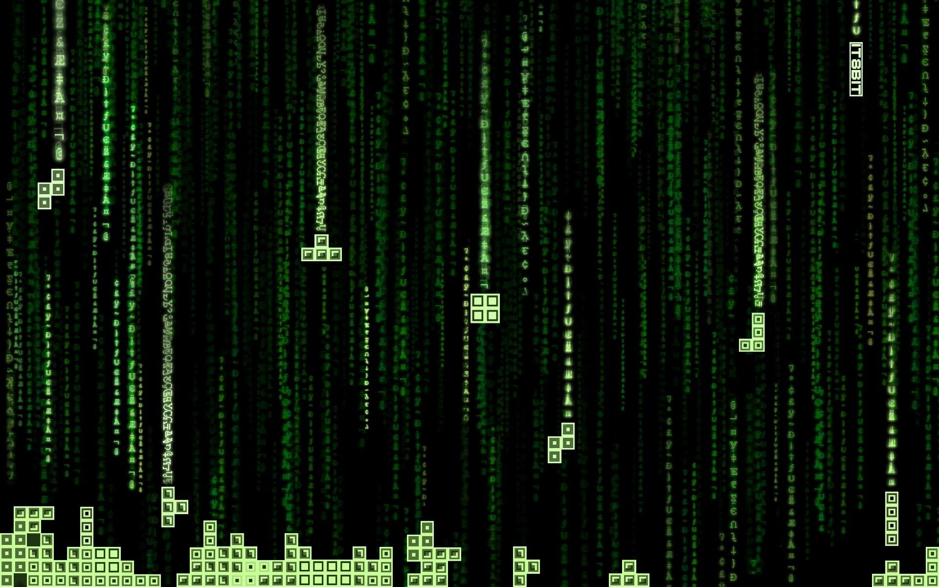 wallpaper Tetris · The Matrix · code