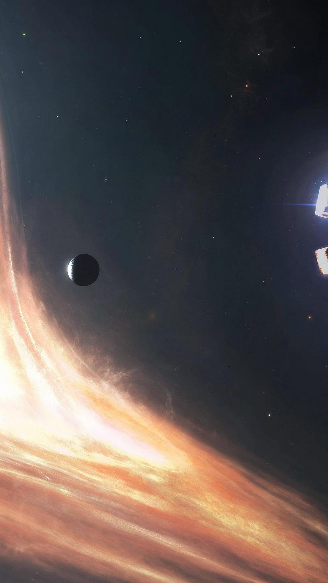 interstellar black hole iphone wallpaper …