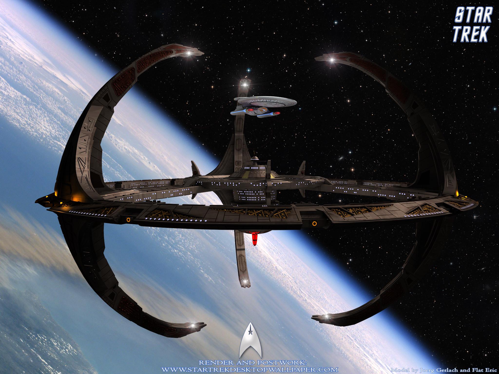 Star Trek Space Station And Nebula Class Starship. Free Star Trek computer  desktop wallpaper,