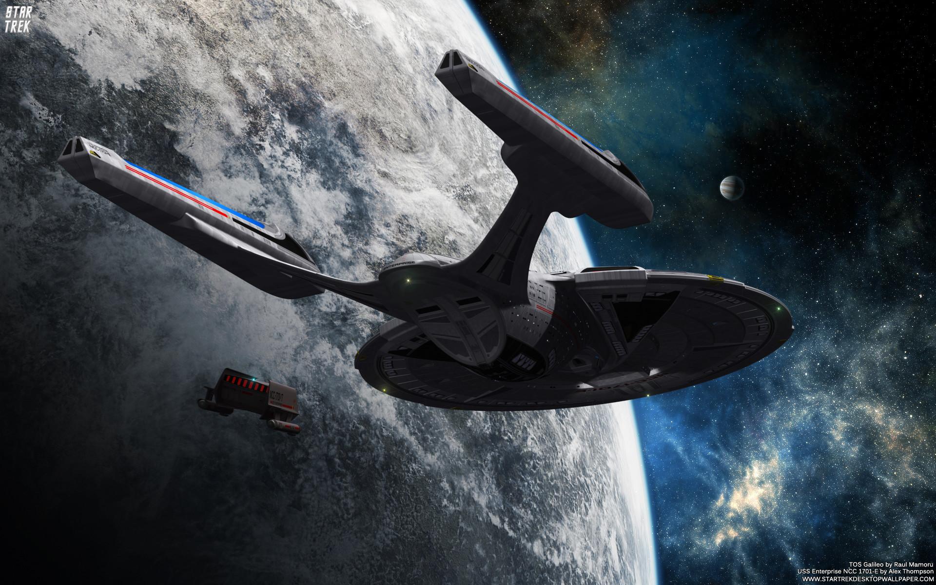USS Enterprise NCC 1701-E – free Star Trek computer desktop wallpaper .
