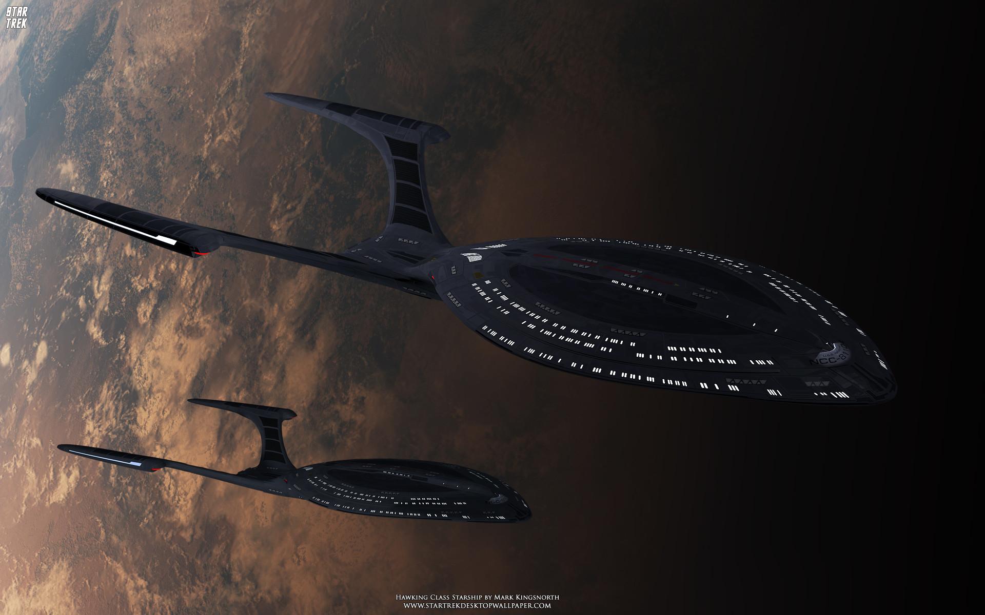 Star Trek Hawking Class Starship – free Star Trek computer desktop wallpaper,  pictures,