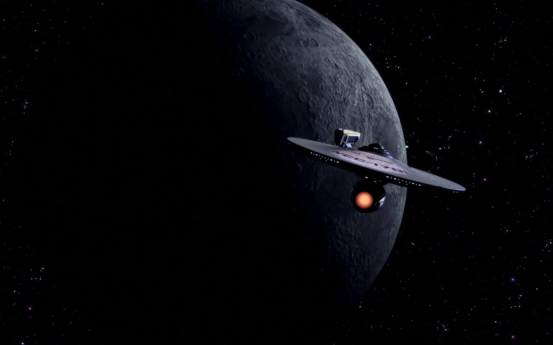 Star Trek Starship Enterprise Spaceship Moon Stars wallpaper      197310   WallpaperUP