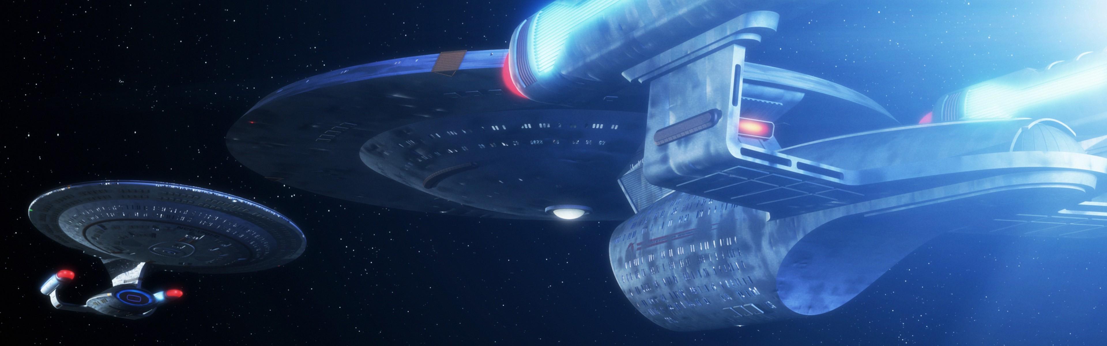 General Star Trek USS Enterprise (spaceship) dual monitors  multiple display space
