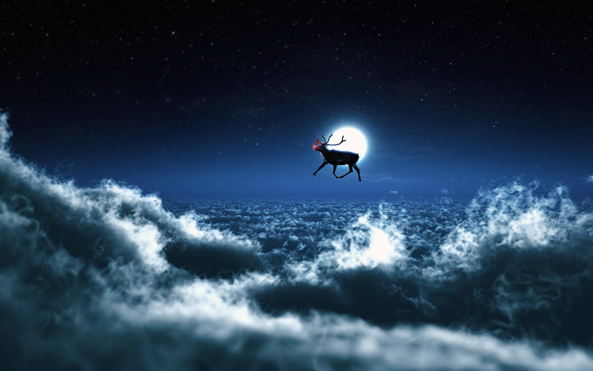 Popular Wallpapers. Santa Reindeer …