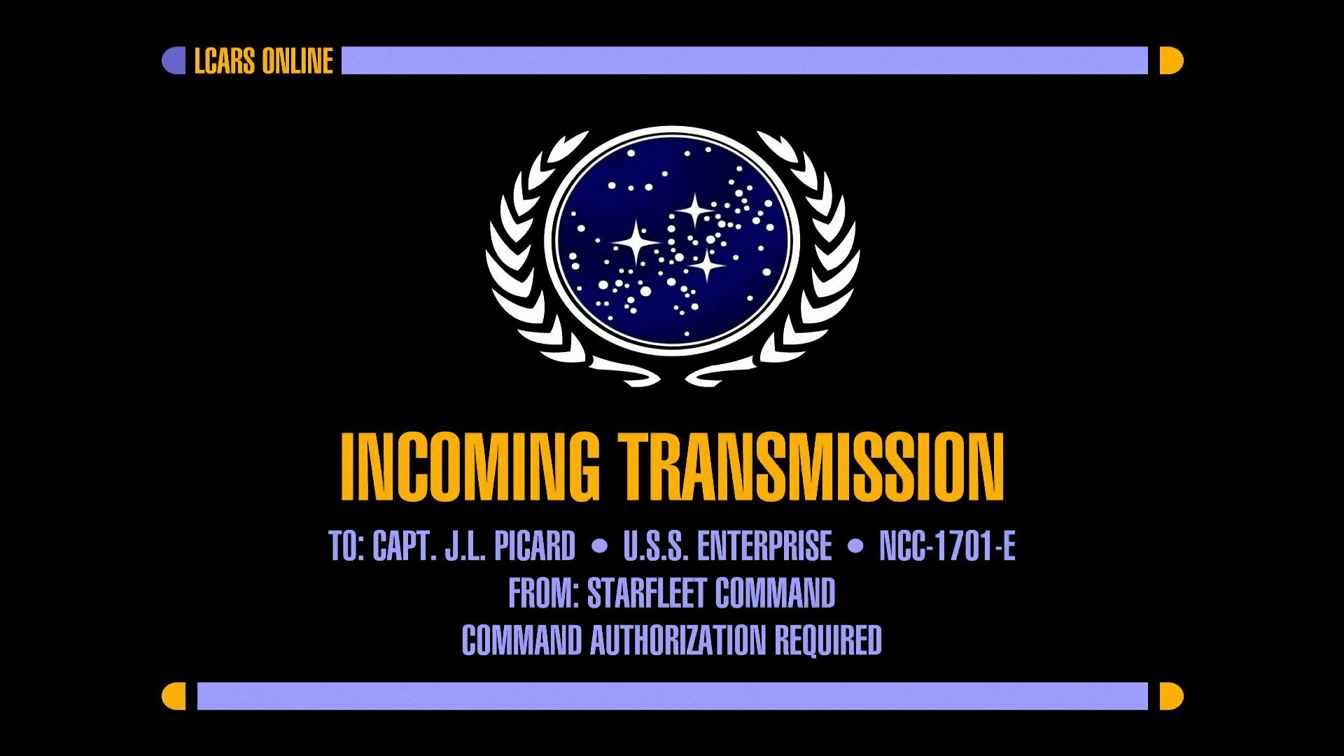 Star Trek Incoming Transmission Screen HD Wallpaper