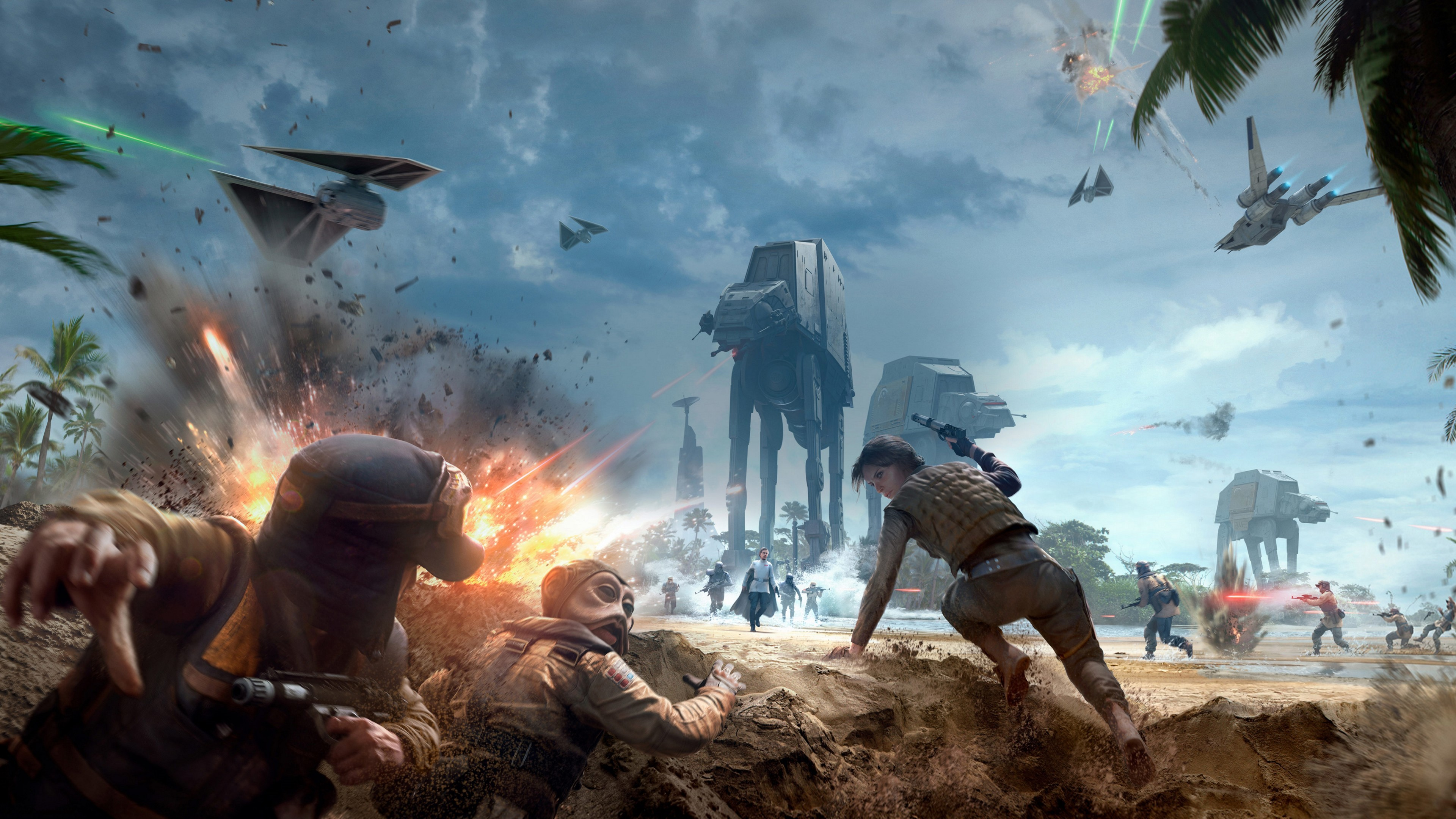 Rogue One Scarif Star Wars Battlefront Wallpaper