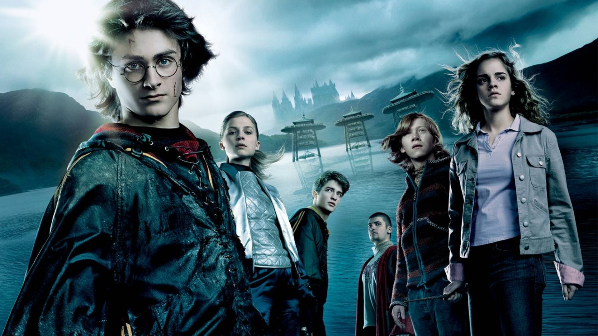 Wallpaper harry potter and the goblet of fire, main characters,  costume