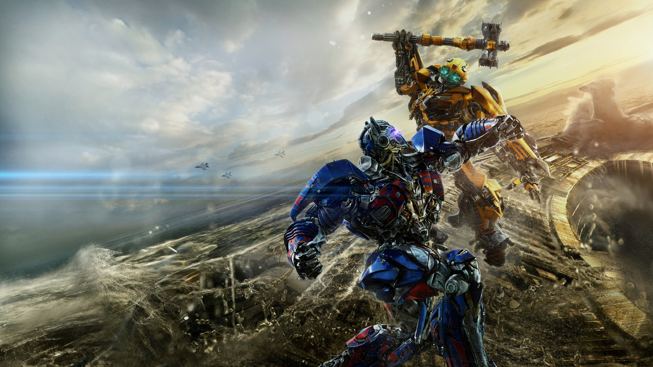 Bumblebee vs Optimus Prime in Transformers the Last Knight HD Wallpaper