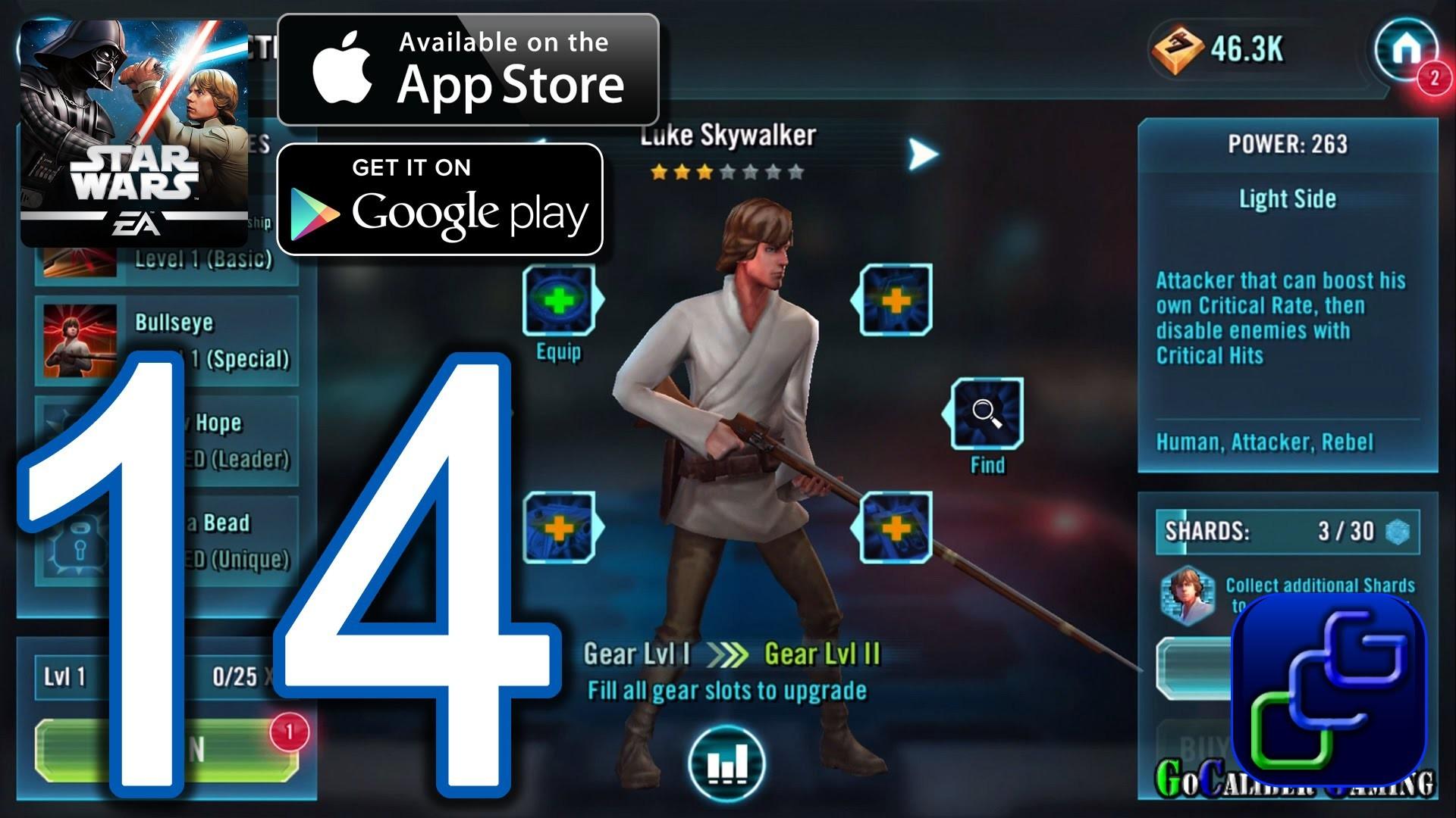 Star Wars Galaxy of Heroes Android iOS Walkthrough – Part 14 – Dark Side  Battles 2 (HARD)