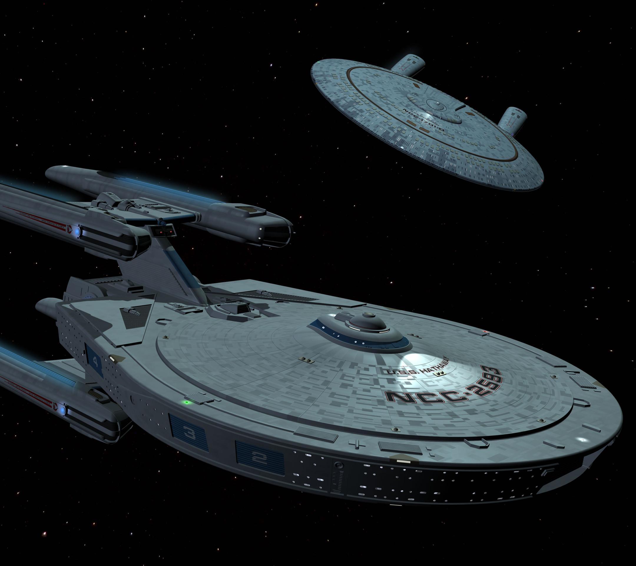 USS Hathaway in Star Trek Wallpaper