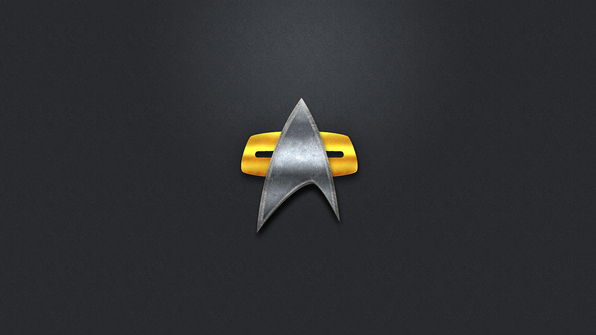 … Star Trek 2370's Com badge Wallpaper by berianlowe