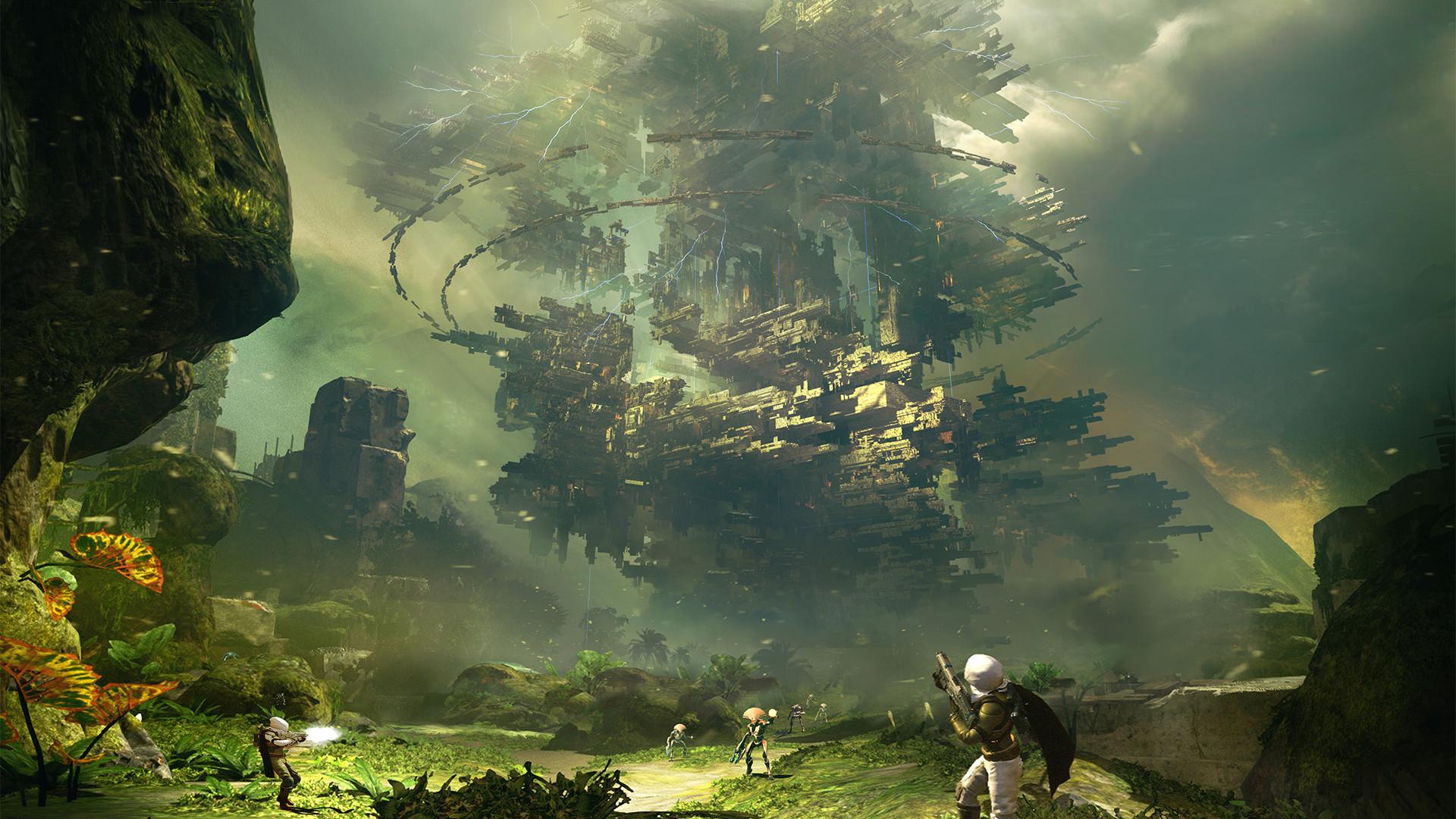 High Resolution Awesome Fantasy Sci Fi Landscape Wallpaper HD 3 .