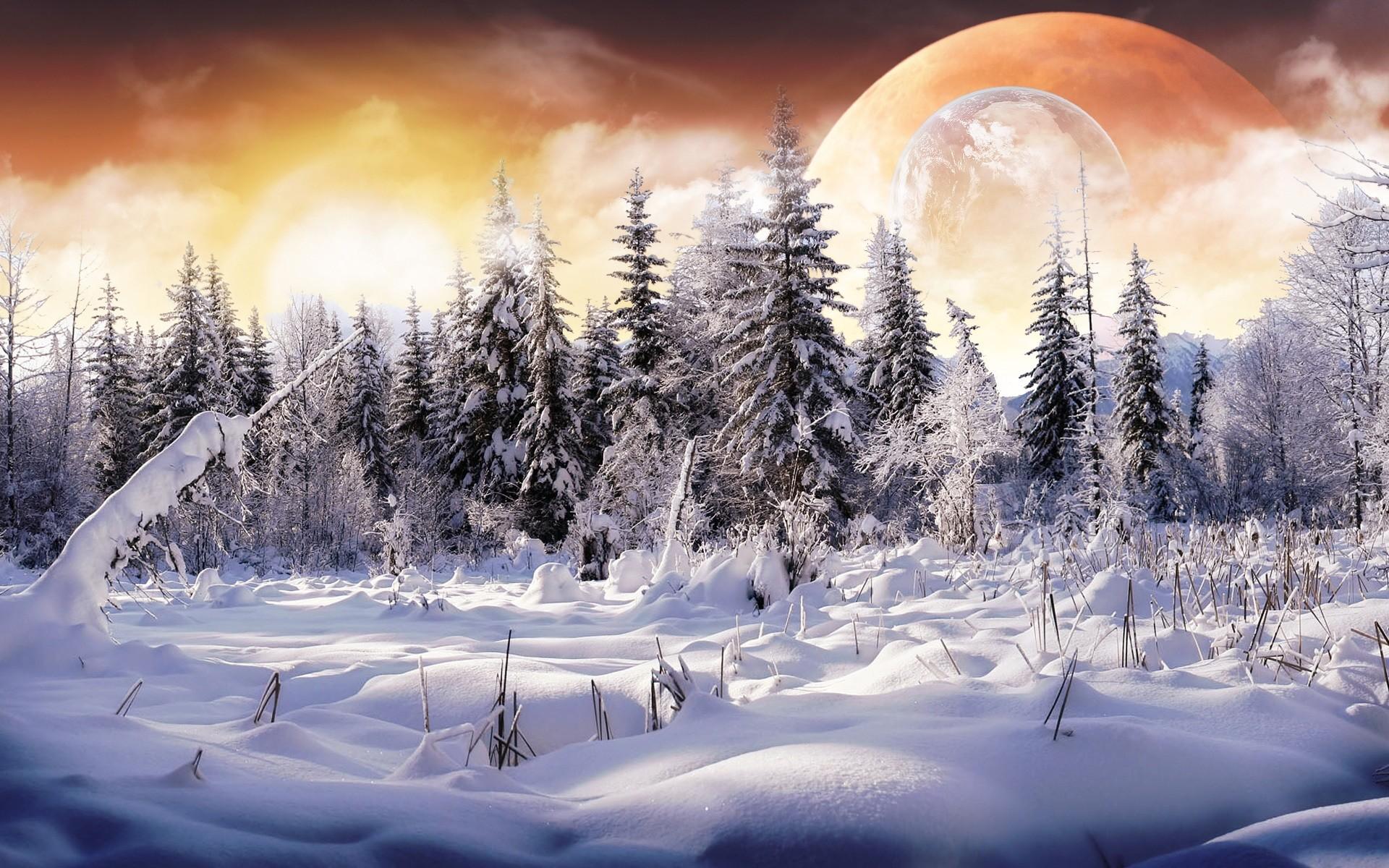 Sci Fi – Landscape Planet Sci Fi Snow Wallpaper