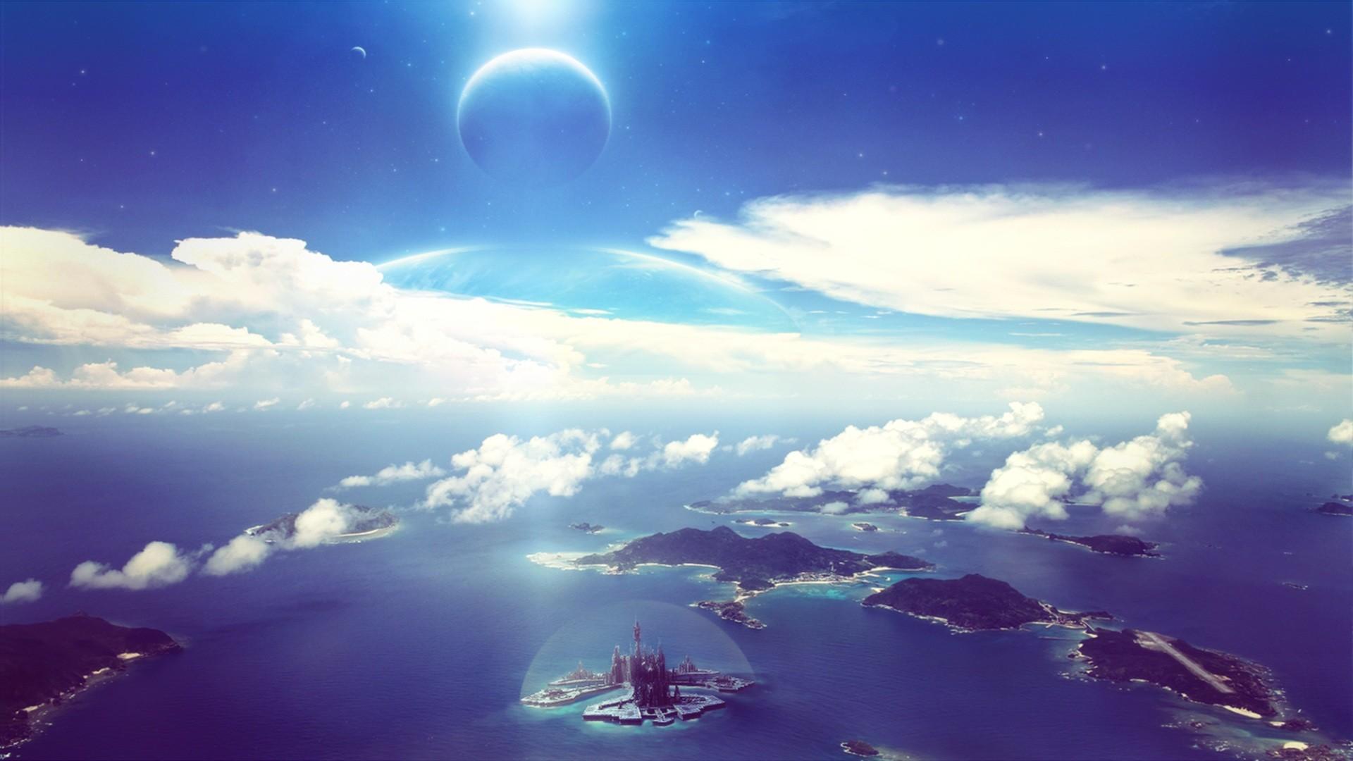 Sci Fi – Landscape Water Island Stargate Atlantis Stargate Sci Fi Wallpaper