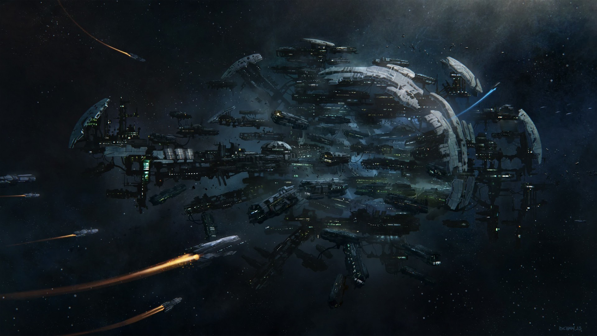 simulator, battle, sci-fi, spaceship, screenshot, 4k .