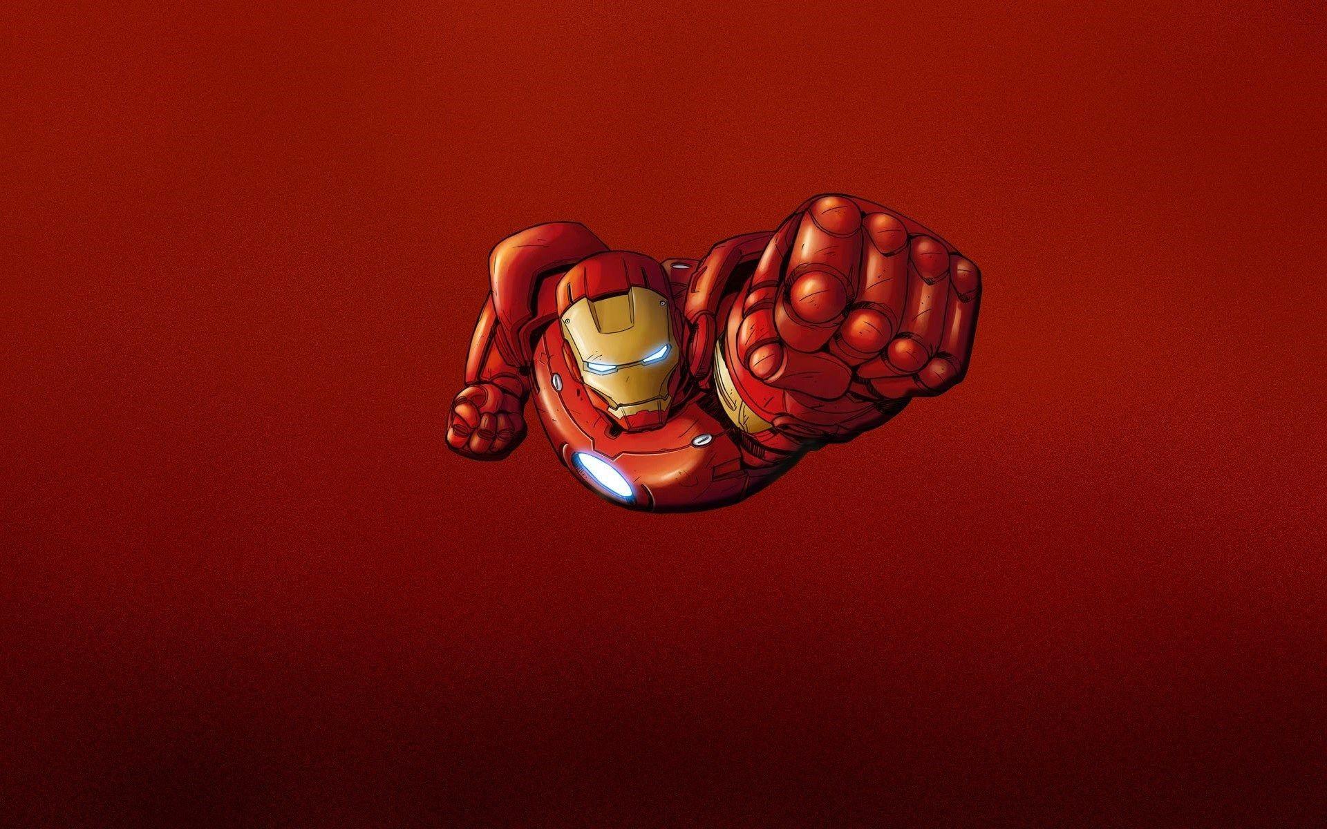 Iron Man Red Minimalism HD Wallpaper – FreeWallsUp
