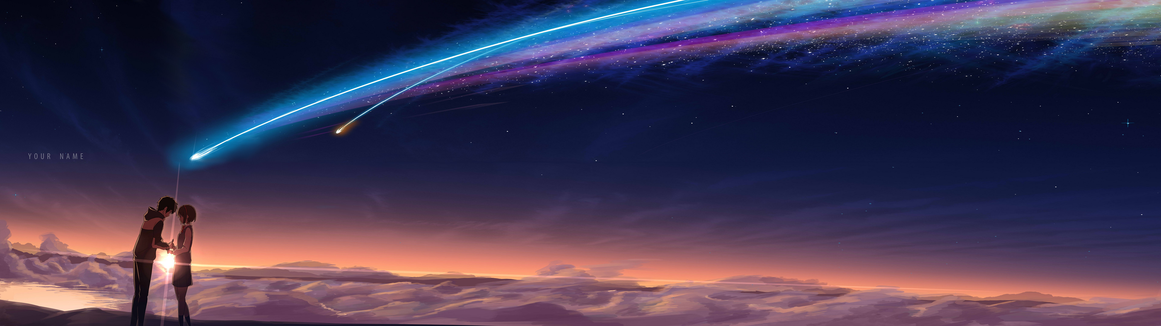 [3840×1080] Kimi no na wa. Your Name. Hastily done dual monitor edit of a  widely available wallpaper.