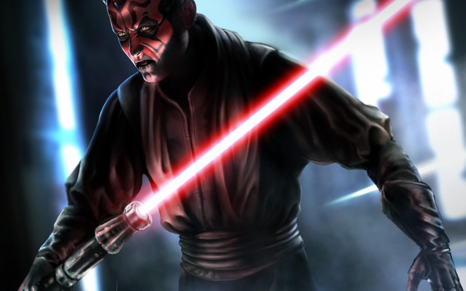 Art jedi star wars sith darth maul sith lord sword light sci-fi .