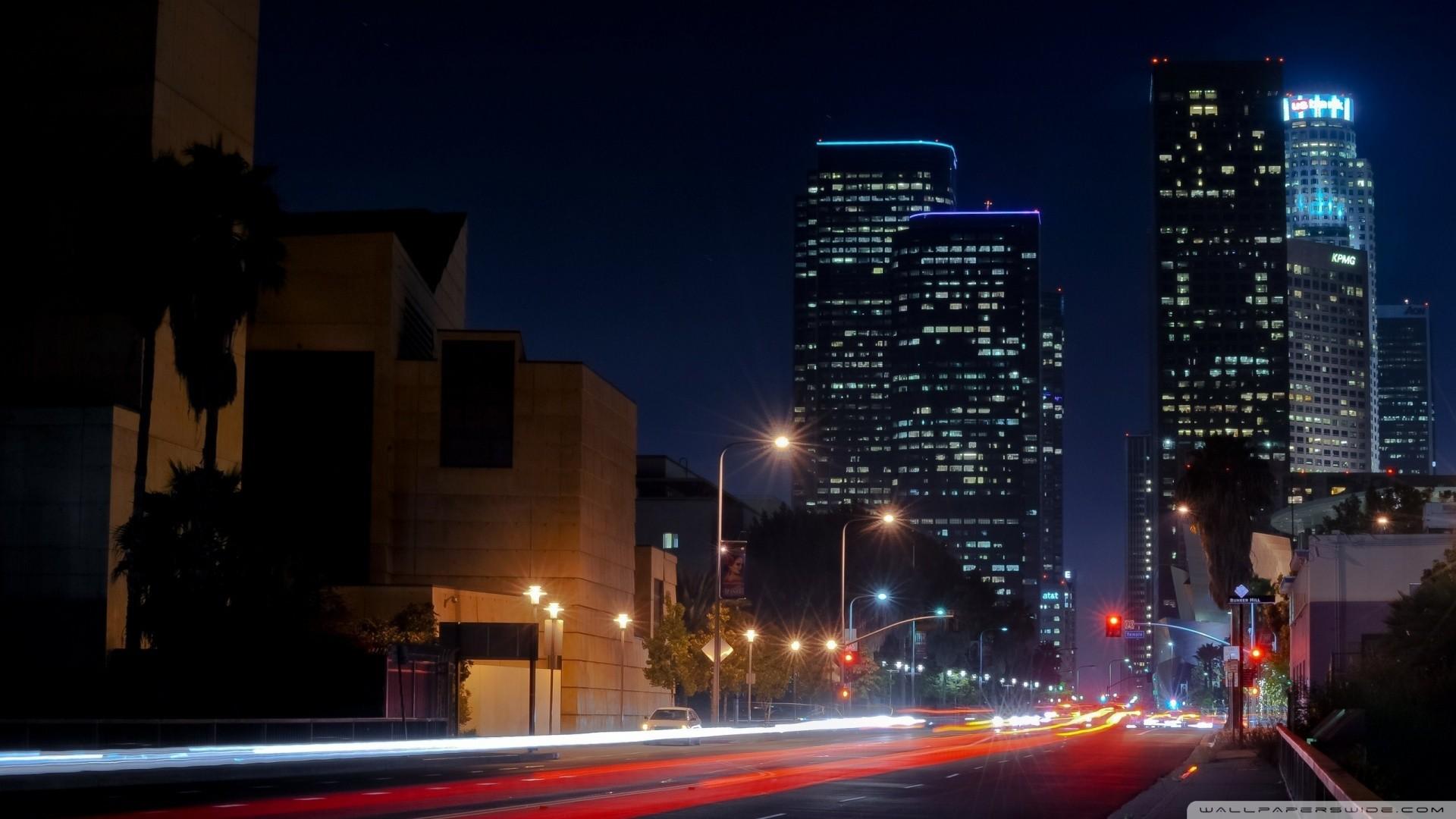 Los Angeles Street Hd Desktop Wallpaper High Definition