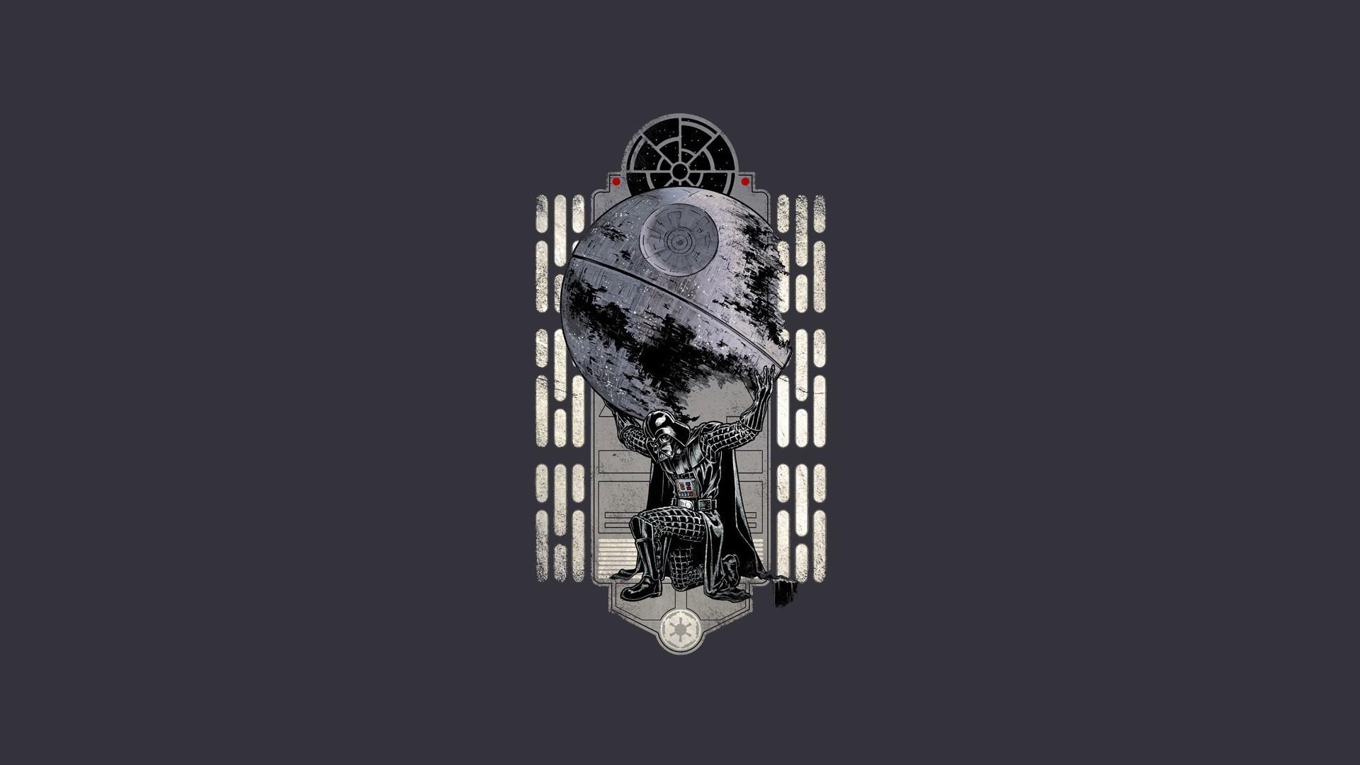 death star minimalistic artwork star wars wallpaper