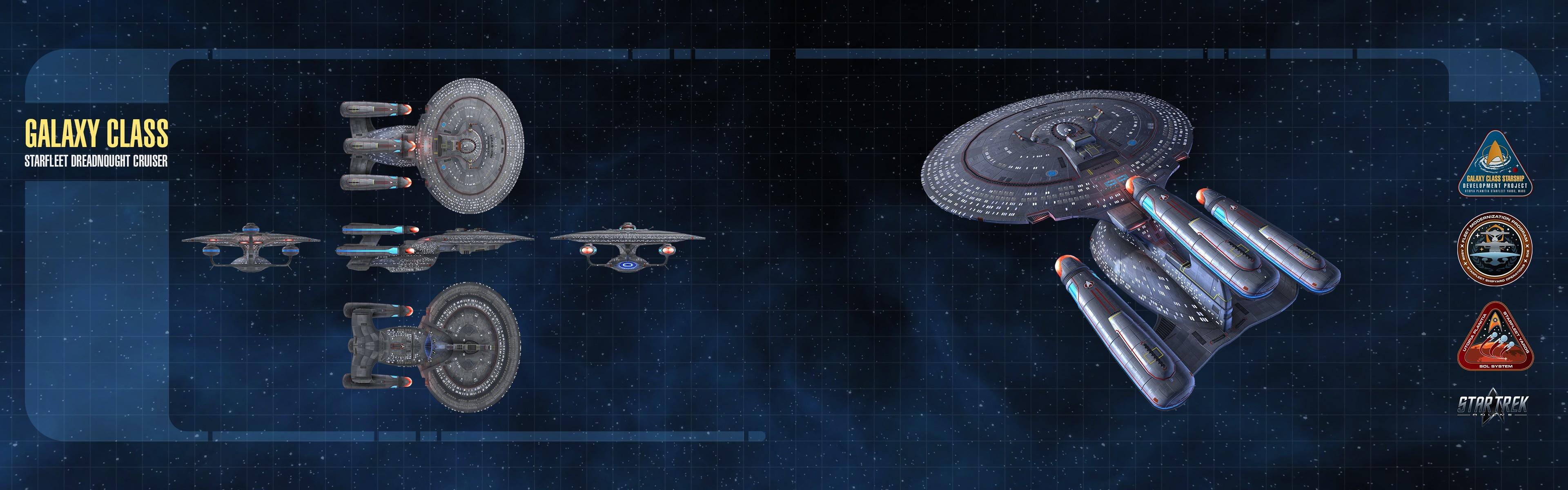 General Star Trek spaceship multiple display dual monitors