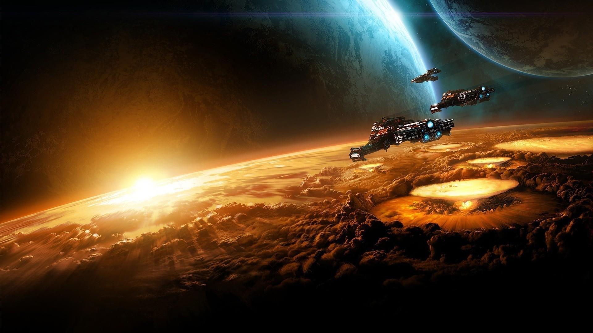 Sci Fi Sky Desktop Background