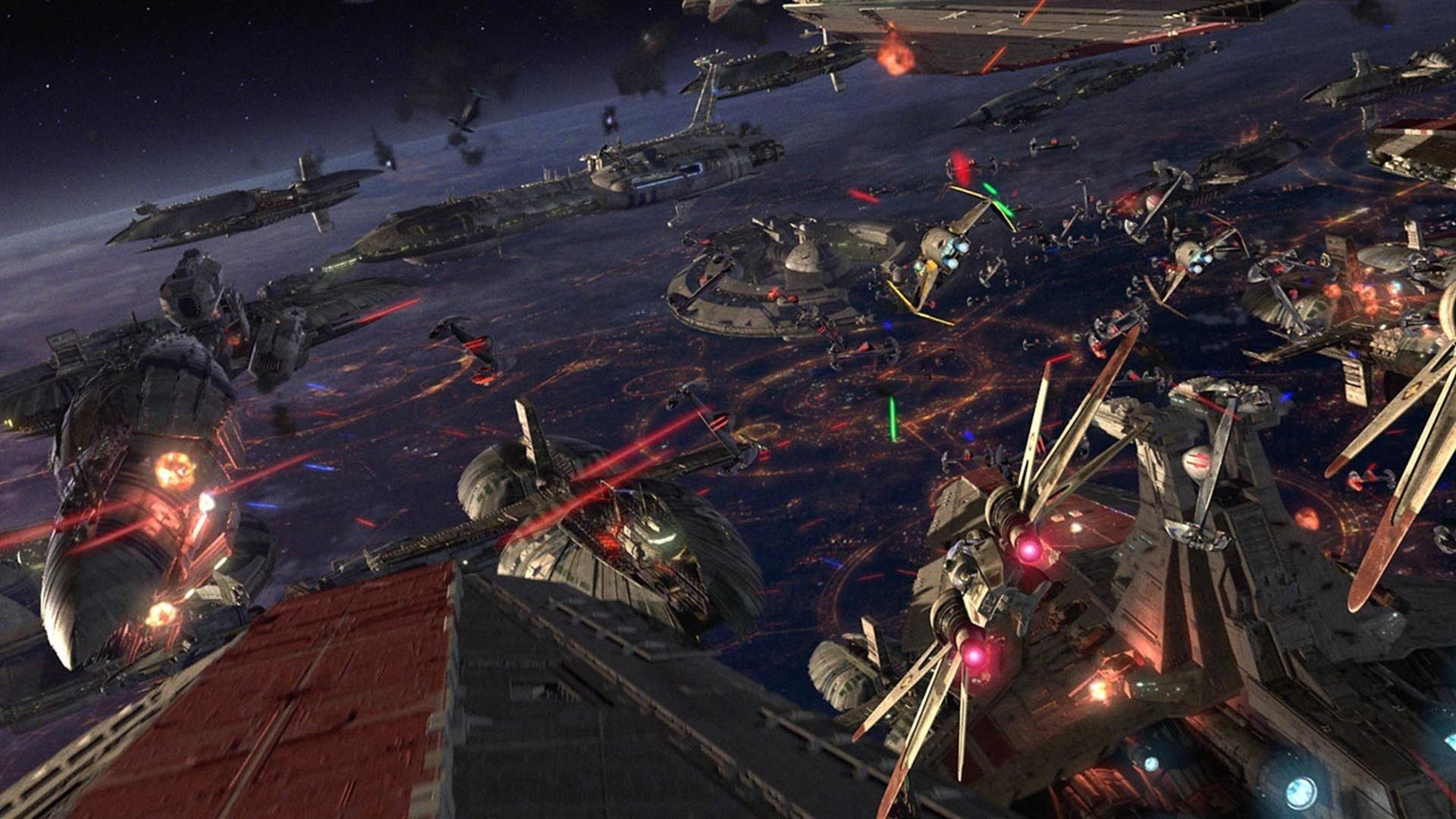 Star Wars Episode III Revenge of the Sith sci-fi battle spaceship .