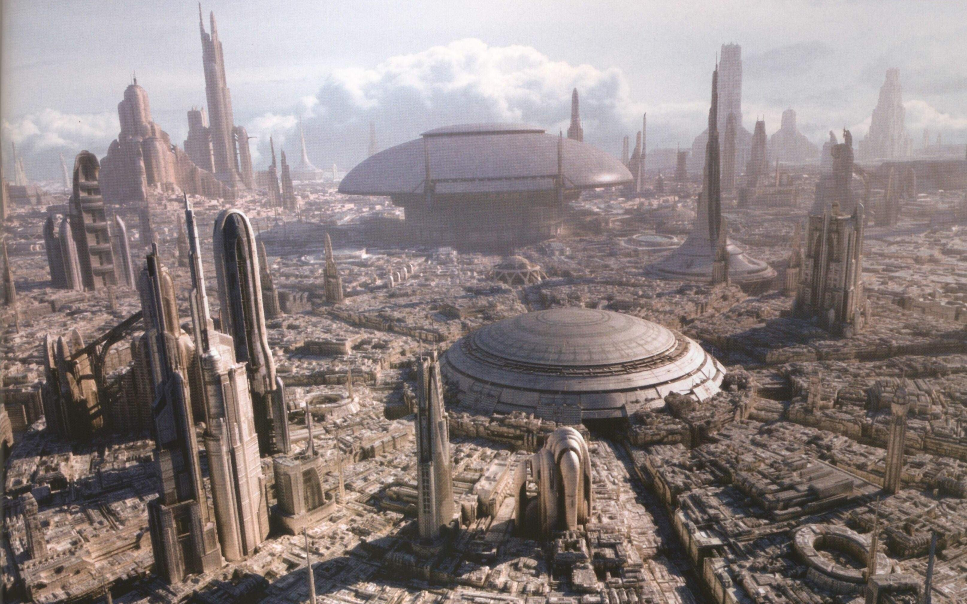Star wars science fiction coruscant wallpaper