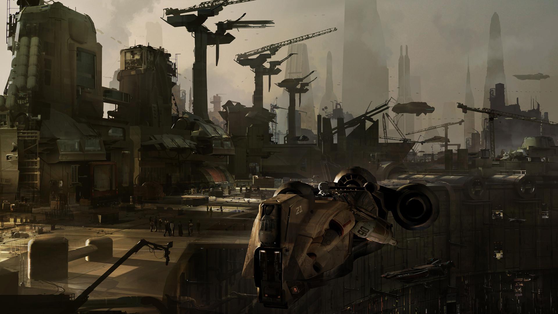 Coruscant underworld entrance – Star Wars 1313 – by Bruno Werneck