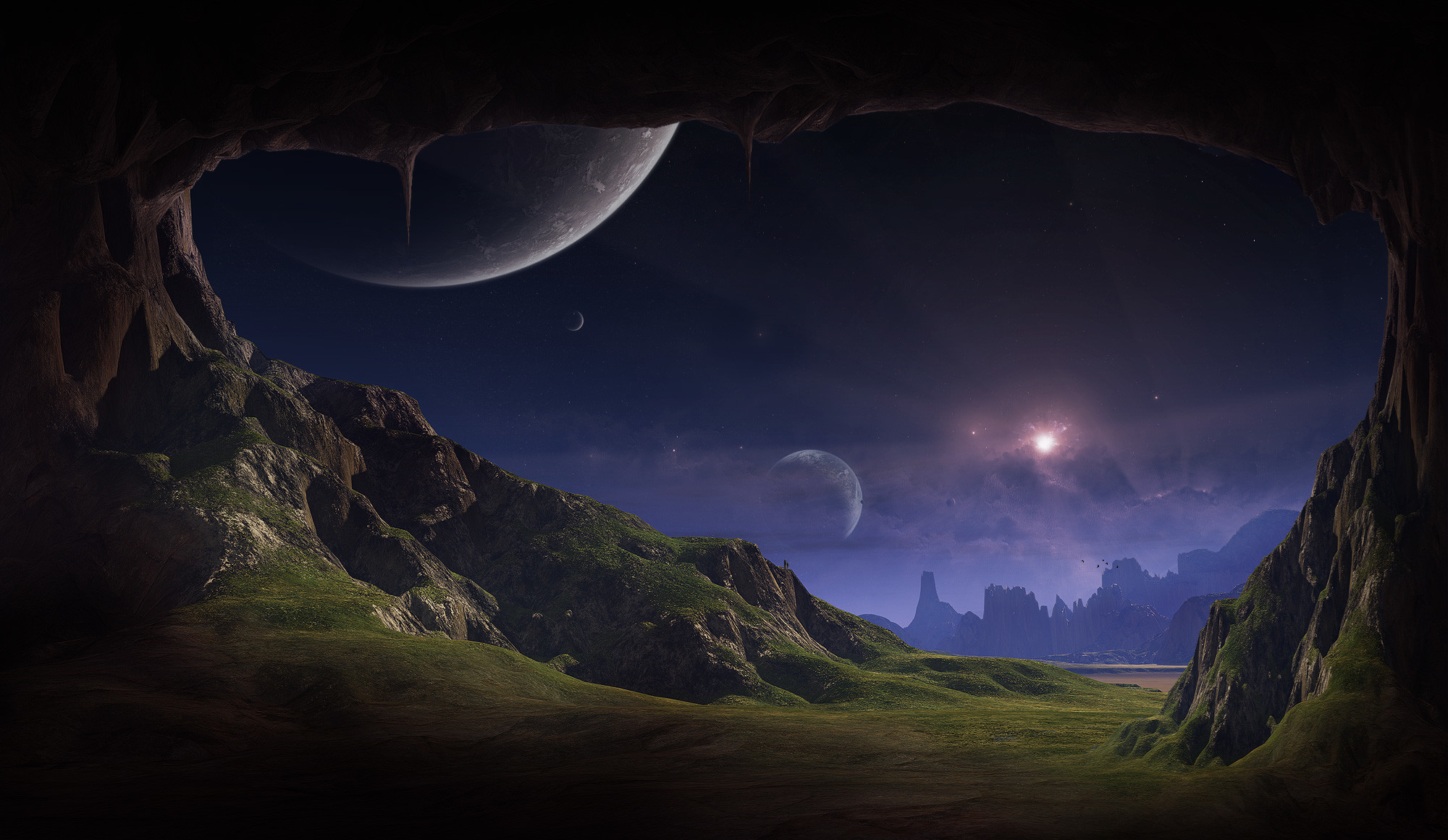 Science Fiction Landscape 6 Digital Art Resolution – For Widescreen  Monitors & Laptops