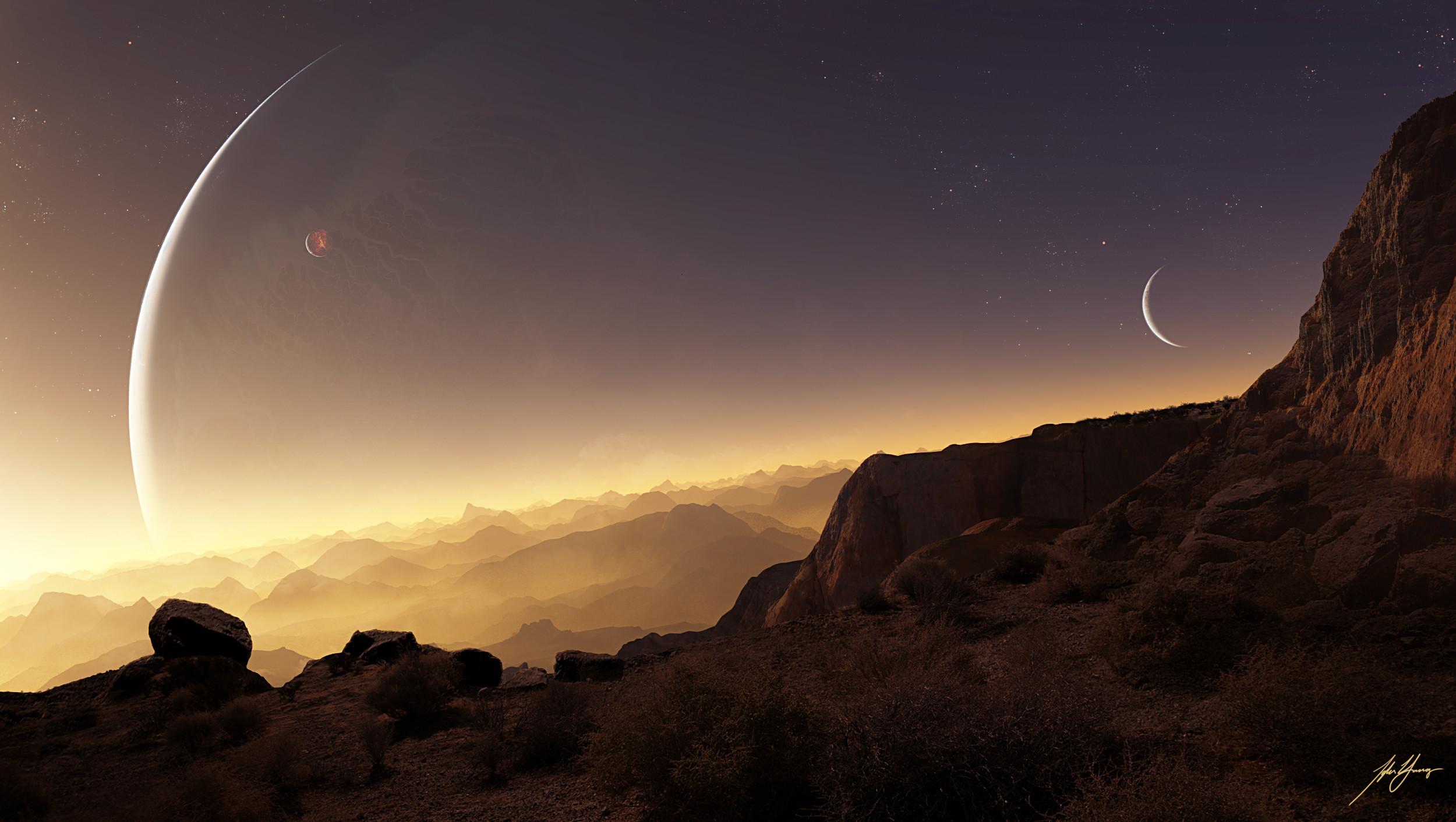 HD Wallpaper   Background ID:293987. Sci Fi Landscape. 4 Like.  Favorite