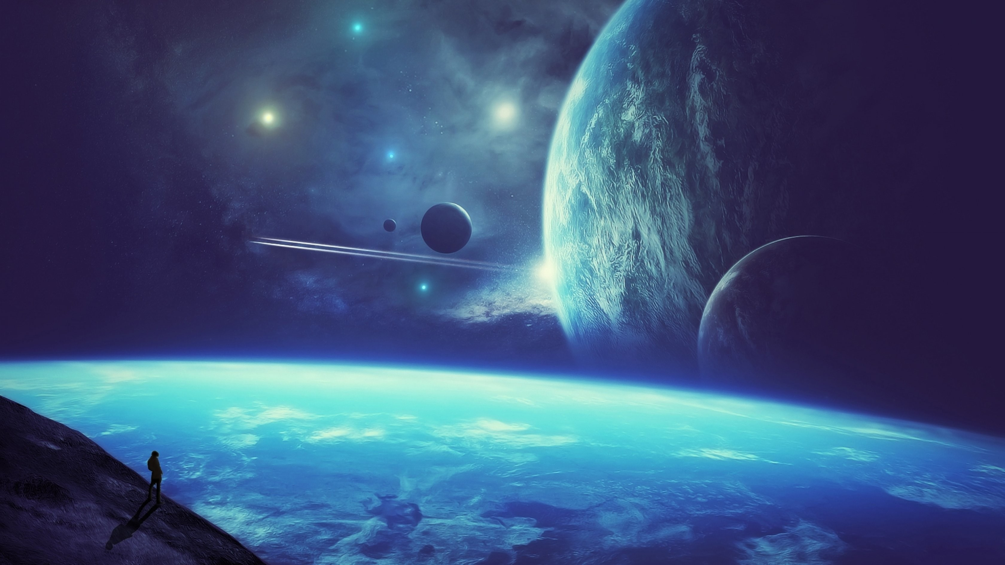 Planetscape sci-fi planet landscape space art artwork wallpaper      660348   WallpaperUP