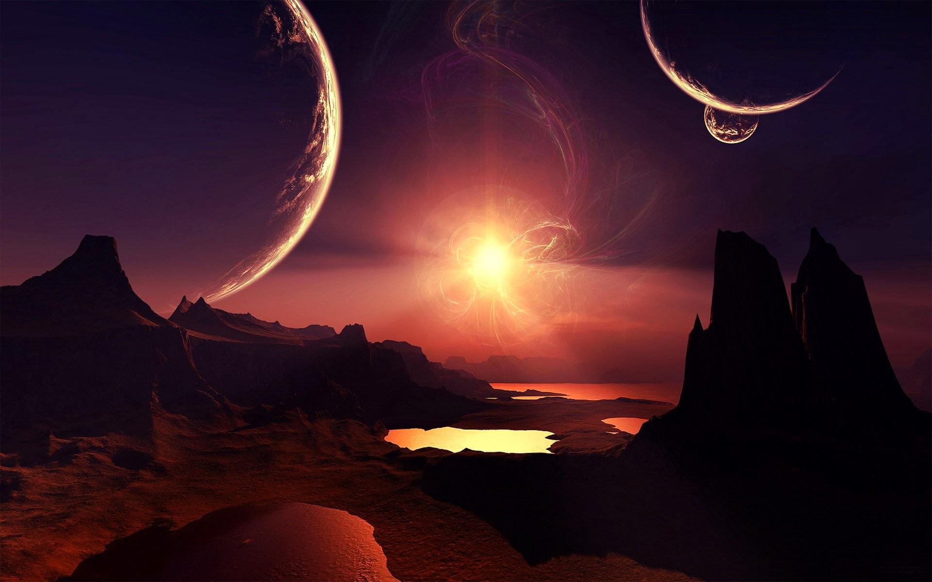 HD Wallpaper   Background ID:106830. Sci Fi Landscape