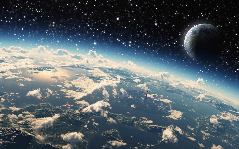 Planetscape sci-fi planet landscape space art artwork wallpaper      660497   WallpaperUP