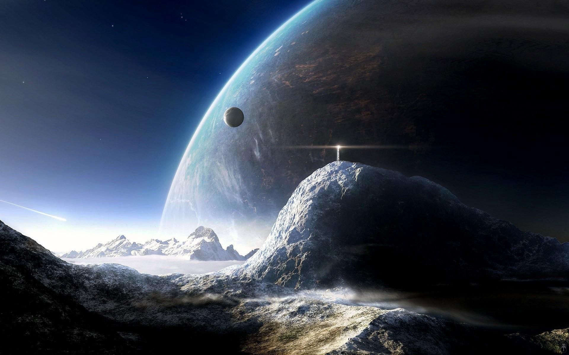 Planet Planet Rise Sci Fi · HD Wallpaper   Background ID:106846