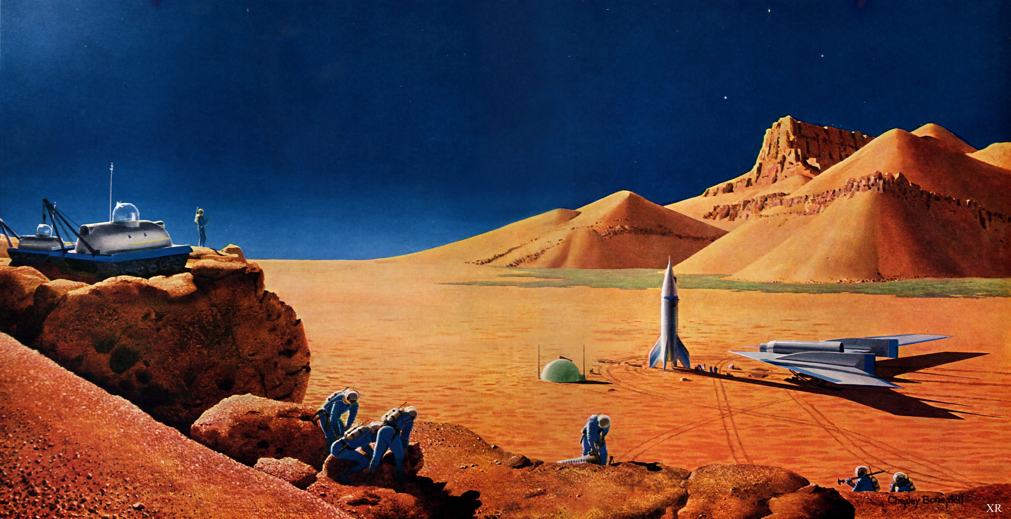 landscapes · outer space · futuristic · planets · Mars · science fiction