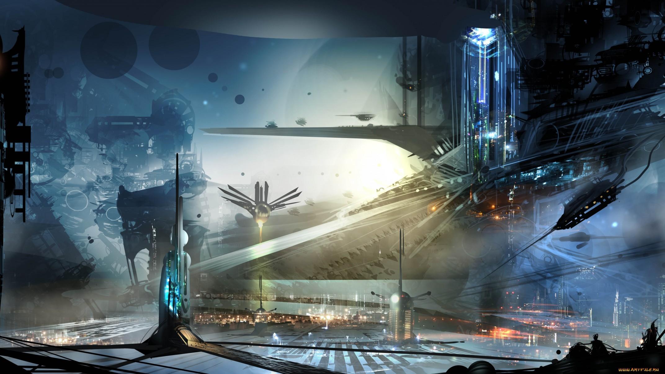 Gorgeous sci-fi artwork by Alex Ruiz.