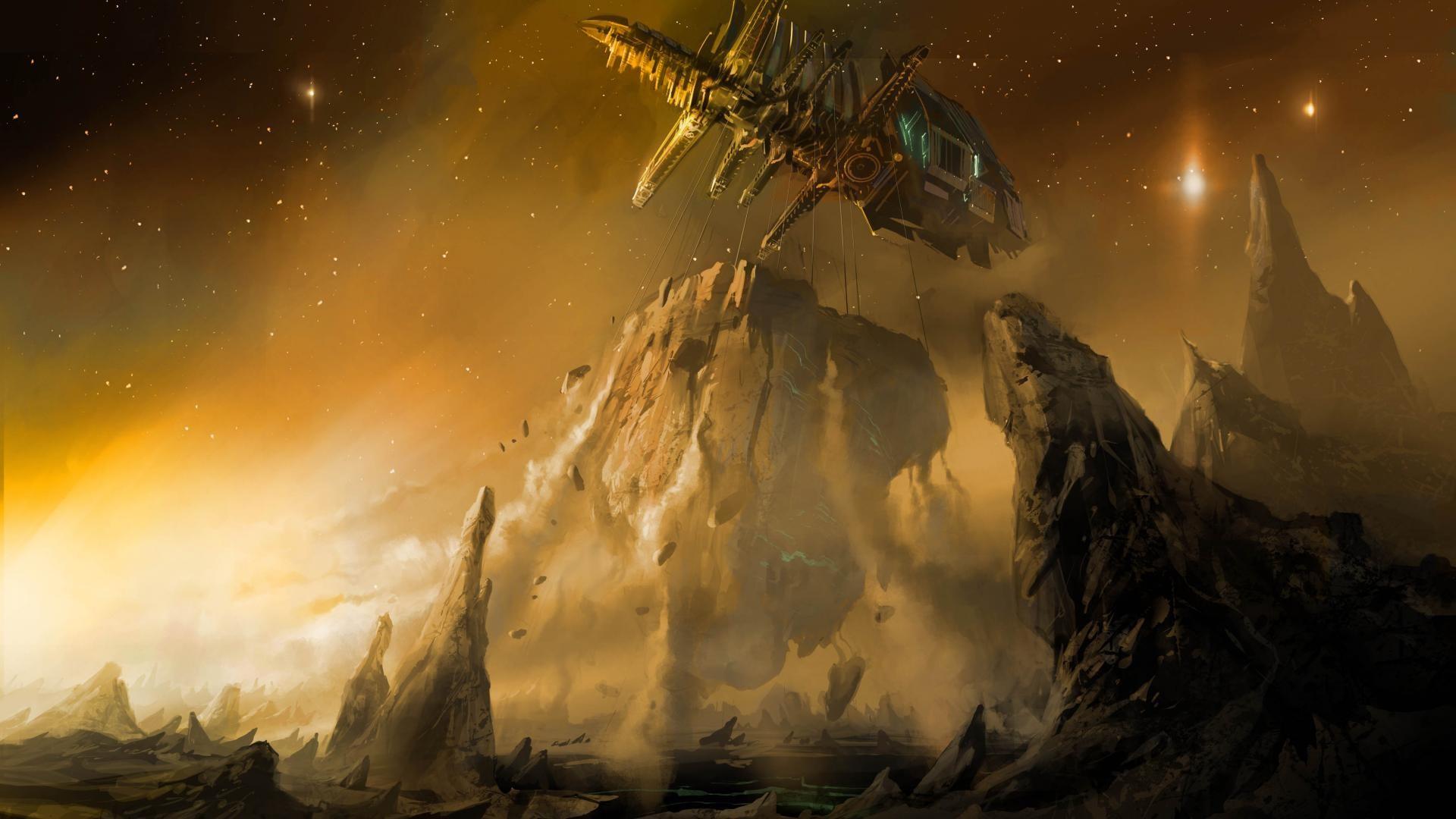 https://www.blirk.net/wallpapers/1920×1080/spaceship-wallpaper-18.jpg    Fantasy and Sci-Fi Art   Pinterest   Illustration art, Sci fi and Art work