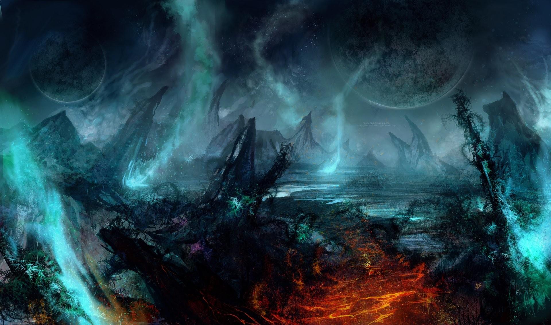 sci fi planet landscape – photo #6. https://artofinca.com/ Computer  Wallpapers, Desktop .