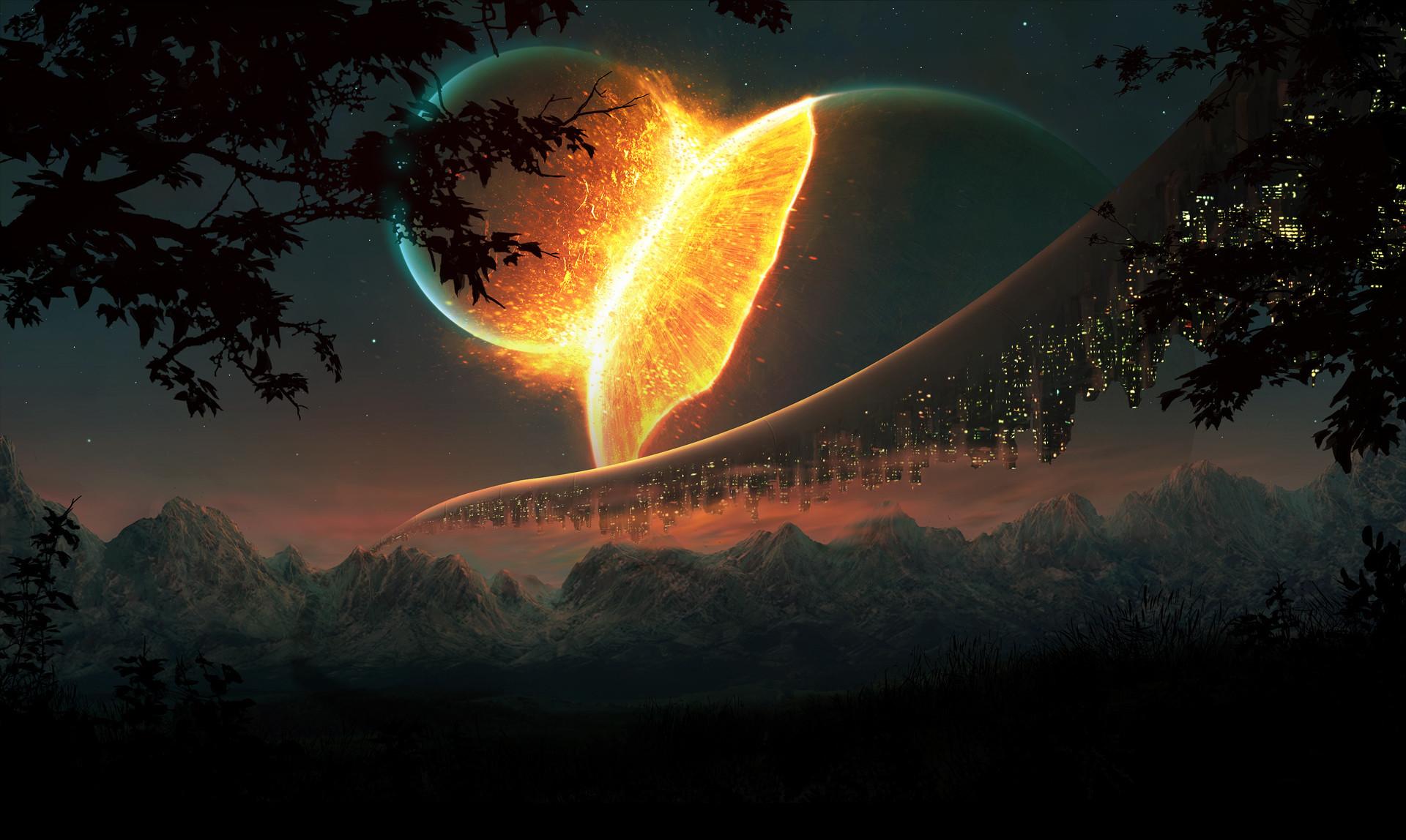 Science Fiction Landscapes Space Planets …