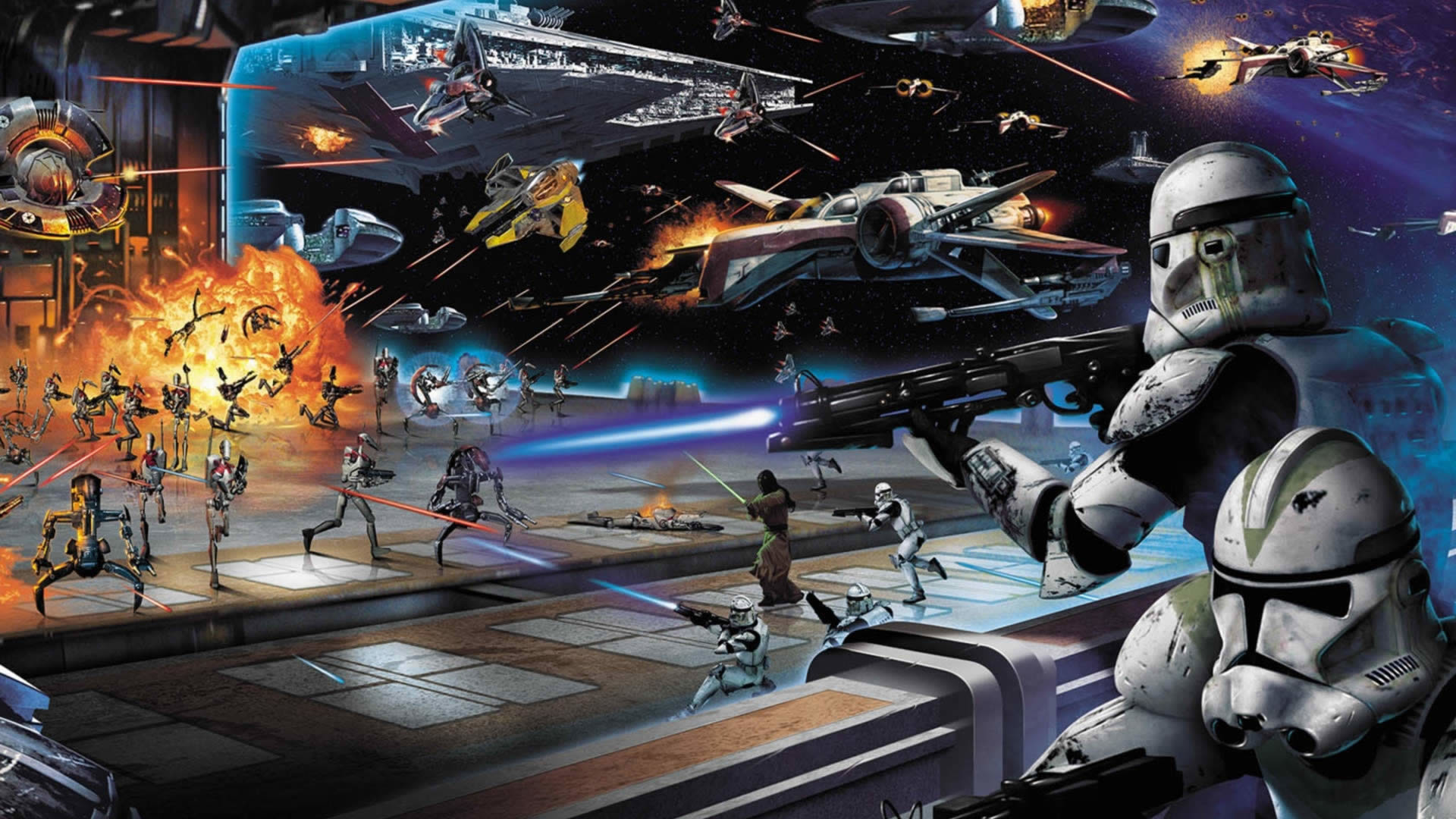 star wars painting images | 40 Epic Star Wars Wallpapers