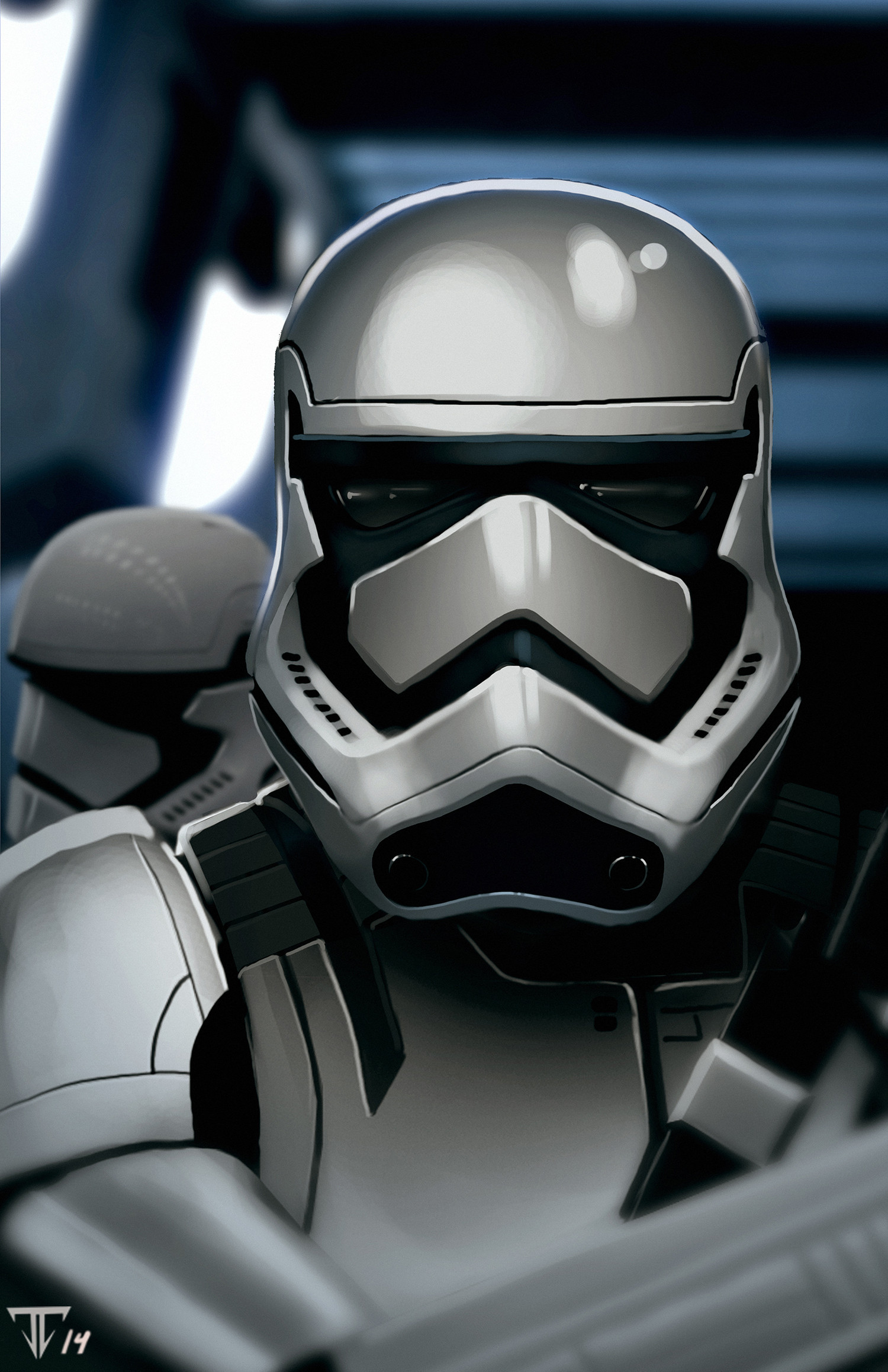 Turn the new Star Wars VII Stormtrooper Concept images into a wallpaper …