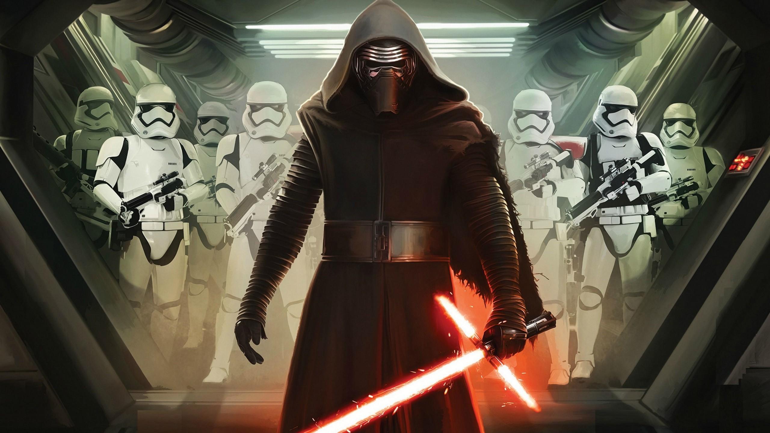 Episode VII The Force Awakens, Kylo Ren, Stormtrooper Wallpapers HD .