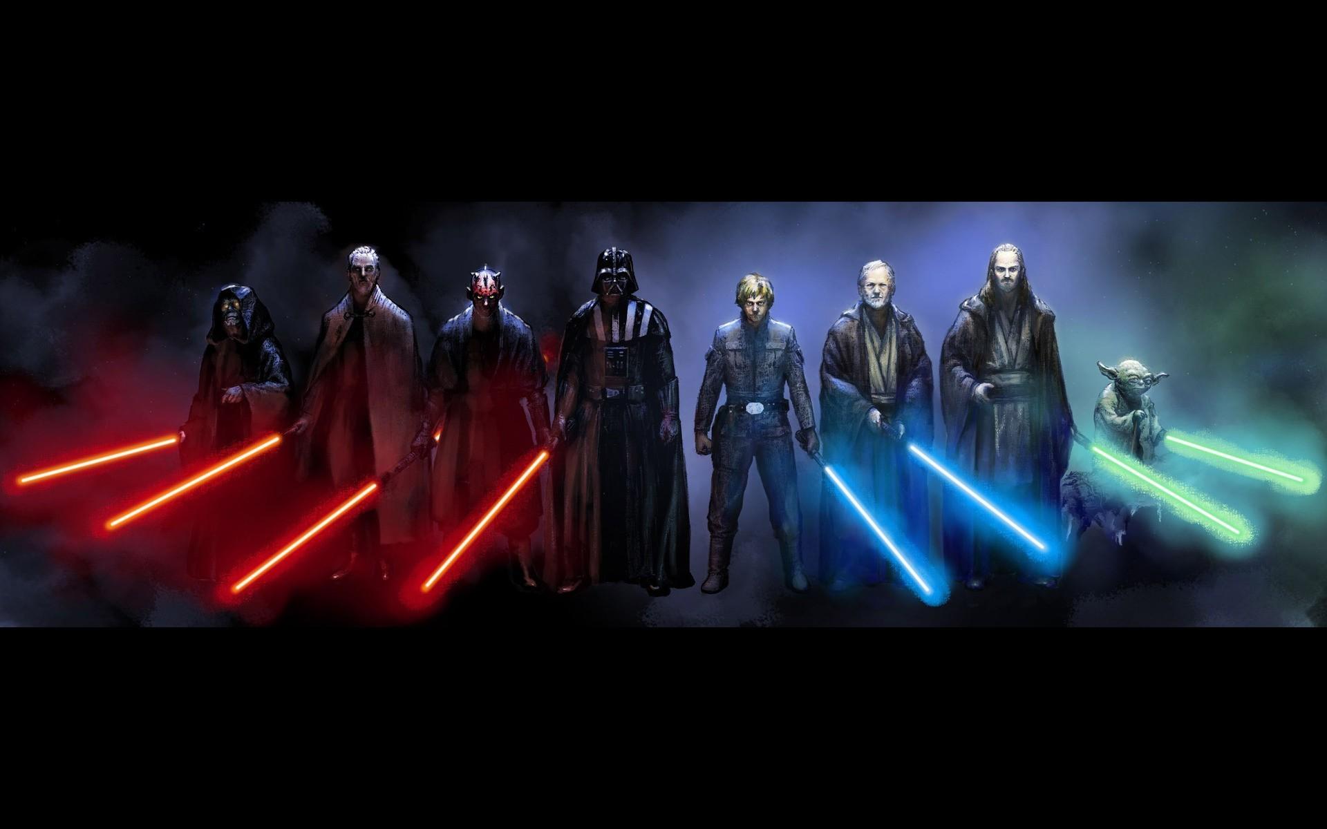 Yoda, Obi Wan Kenobi, Luke Skywalker, Qui Gon Jinn, Darth Vader, Darth Maul,  Darth Sidious, Count Dooku, Star Wars Wallpapers HD / Desktop and Mobile …