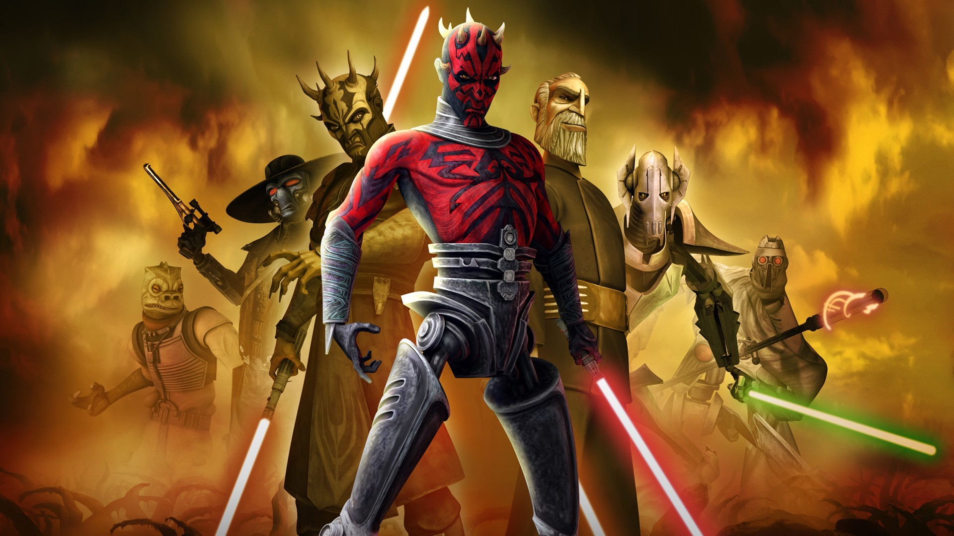 TV Show – Star Wars: The Clone Wars Darth Maul Bossk (Star Wars)