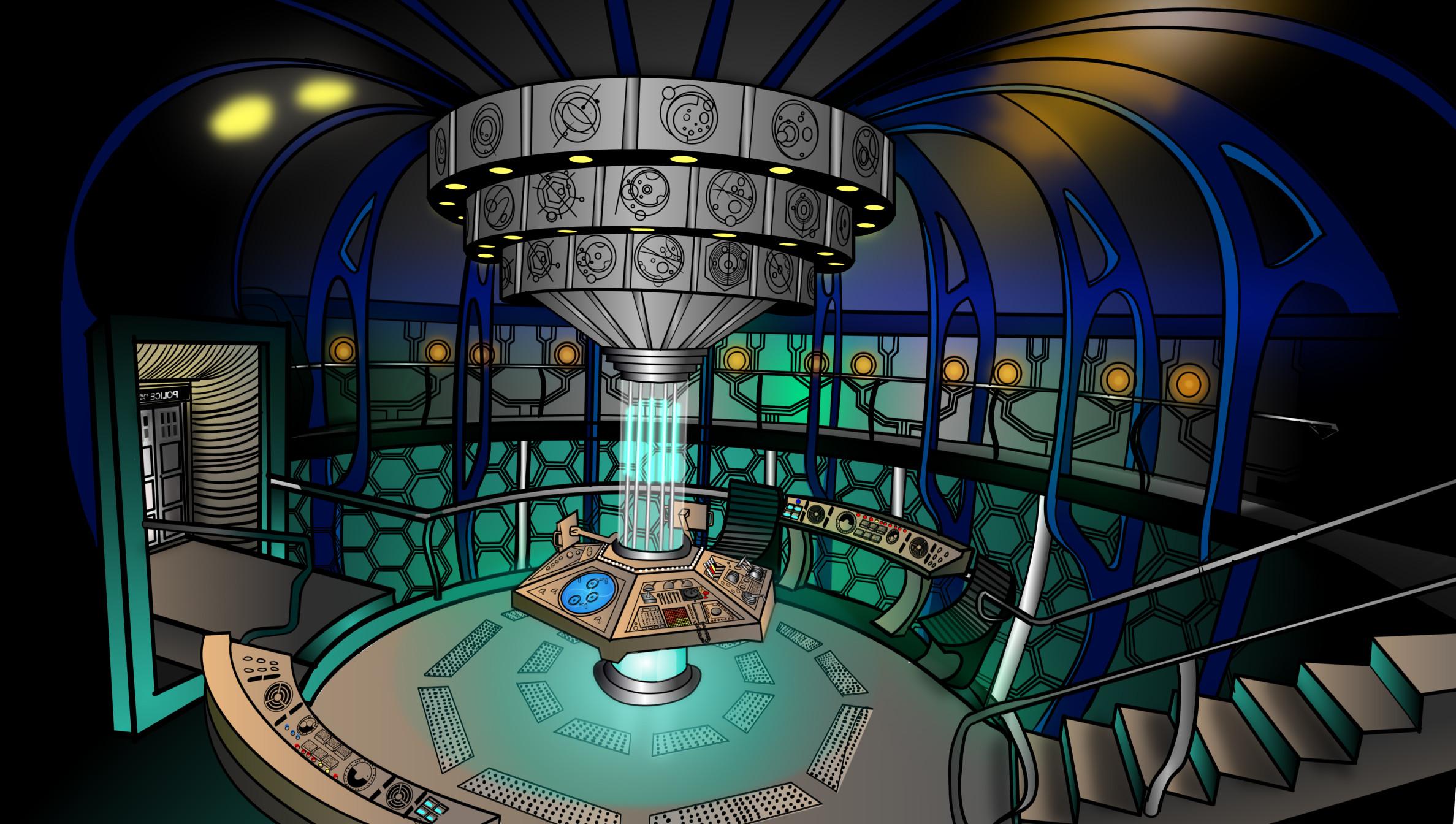 Tardis Interior by MilminoDraws Tardis Interior by MilminoDraws