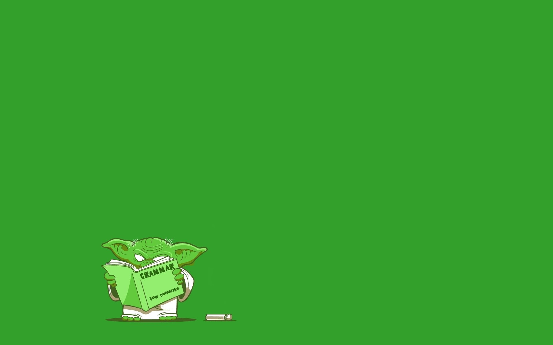 Star Wars artwork Yoda simple background green background wallpaper |  | 284268 | WallpaperUP