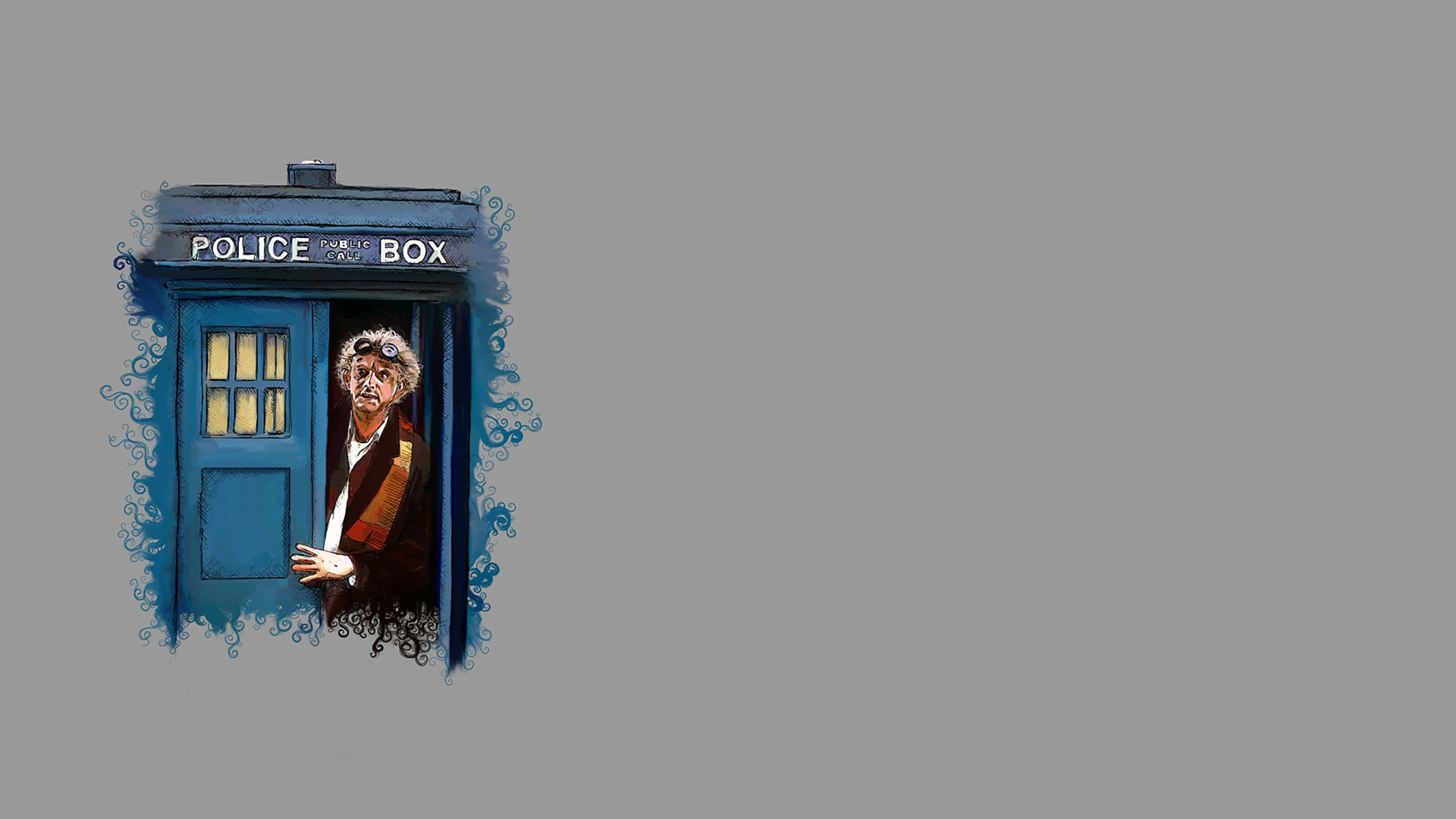 Preview wallpaper doctor who, back to the future, art 3840×2160
